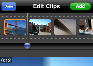 how to add arrow to movie in iphone app