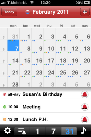 how to use iphone calendar app