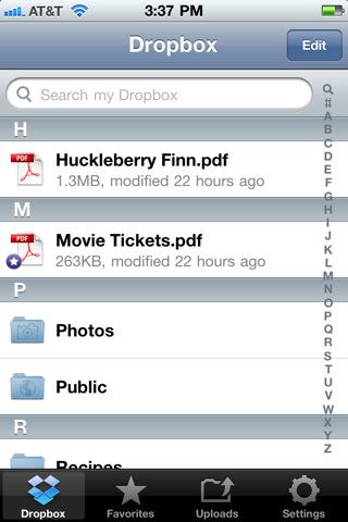 Dropbox для iphone - фото 8