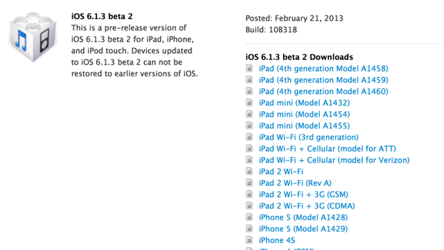 iOS 6.1.3 To Fix Security Flaw, iPad 5 Due in Q3?