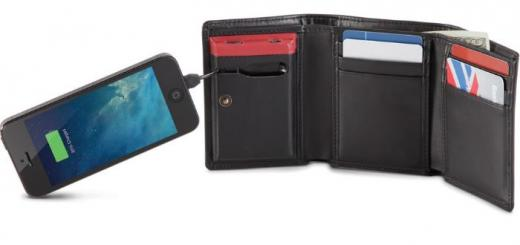 wallet smartphone charger