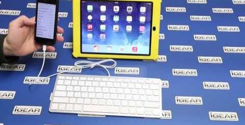 Video thumbnail for youtube video iGear iPad Wired Keyboard with Lightning Connector - iPhoneNess