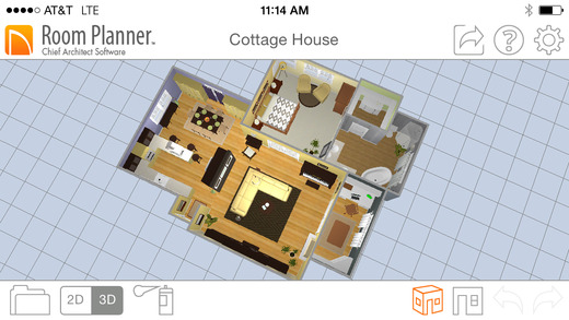 Create and view floor plans with these 7 ios apps iphoneness Free room design planner