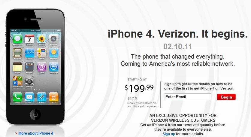 Verizon iPhone Unveiled