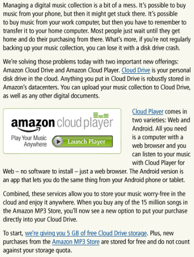 Did Amazon Change The Game with Cloud Drive?