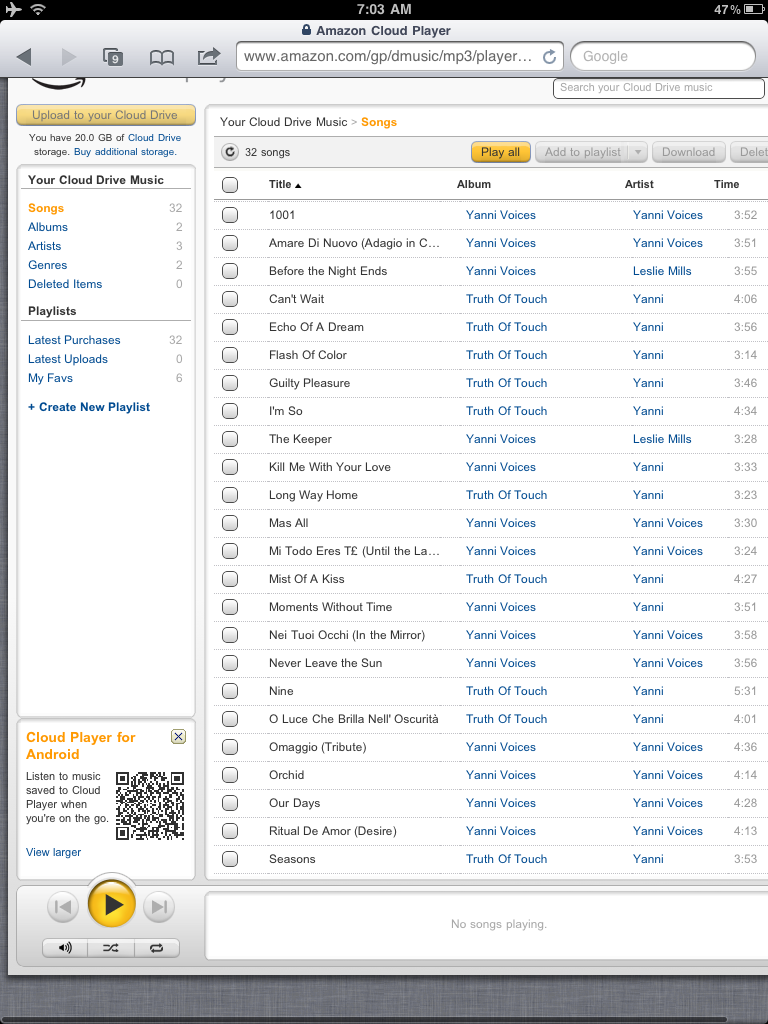 Amazon Cloud Player Works on iOS -