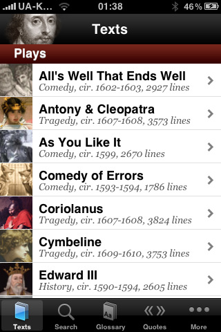 5 Cool Shakespeare Apps for iPhone