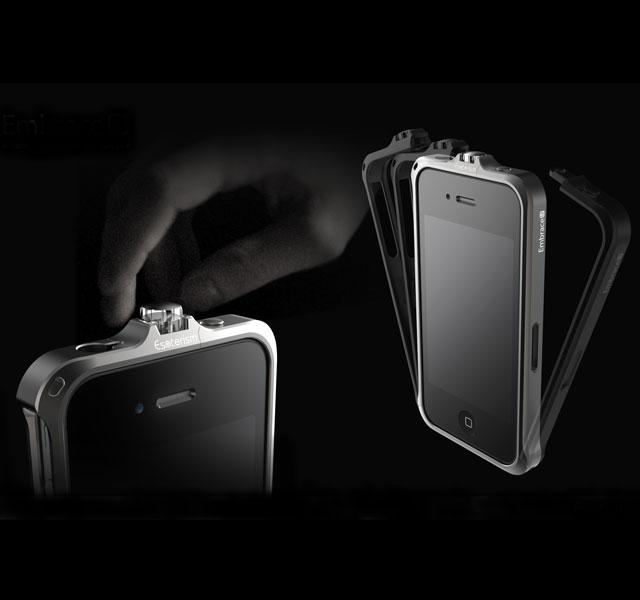 Embrace-5 Aluminum Bumper for iPhone, iLP Vinyl Converter Turntable