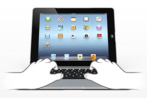 Smartphones Overtake Tablets In Data, ClamCase Pro Keyboard Case for iPad