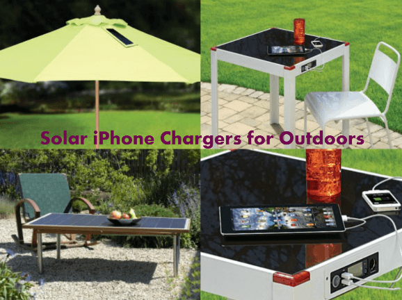 Solar Tables and Umbrellas for iPhone and Tablets