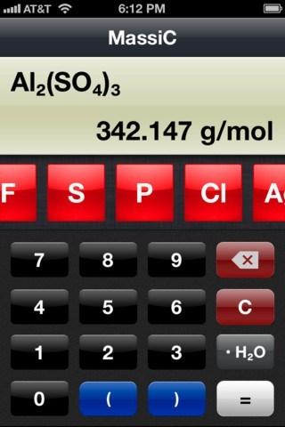 5 Cool Chemistry Calculators for iPhone / iPad -