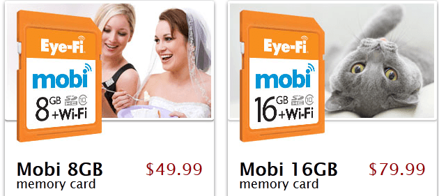 Lightning USB Cable with Elastic Cord, Eye-Fi Mobi for Wireless Photo Transfers