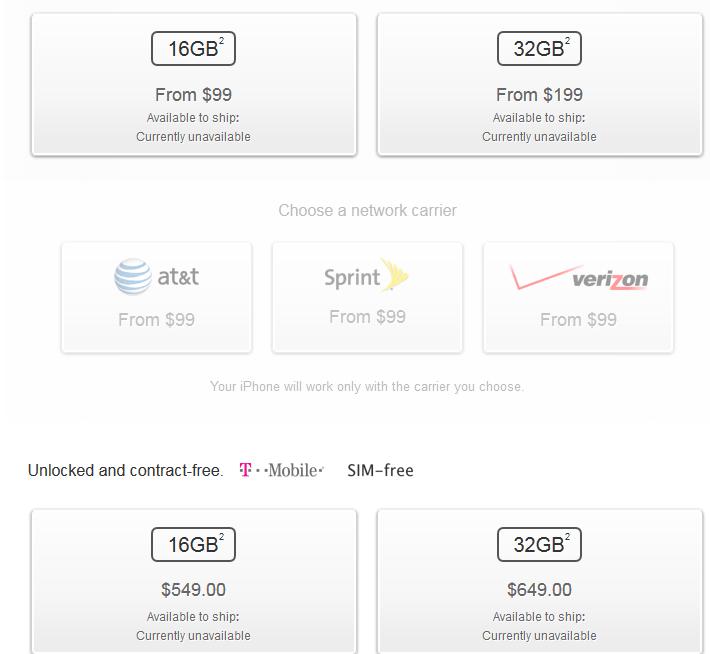 iphone 5c prices