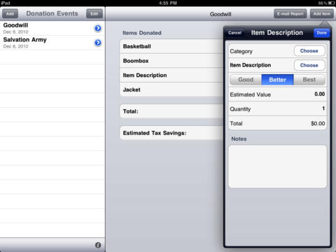 2 iPhone Apps to Track Donations For Tax -