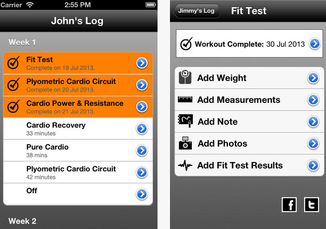 4 iOS Apps for Insanity Workout -