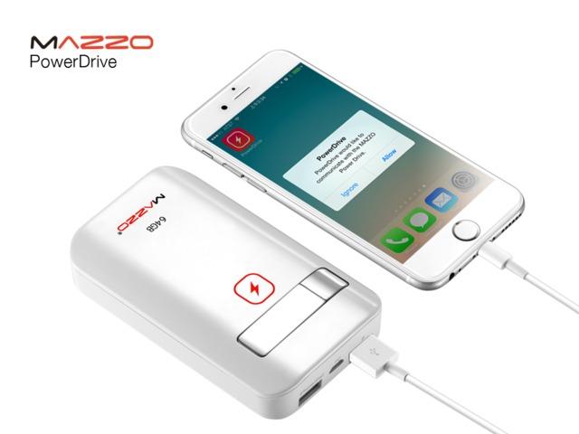 PowerDrive: USB Storage + Backup Battery [iPhone] -