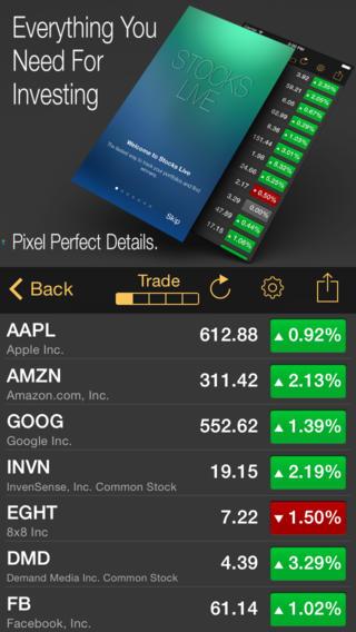 stocks live