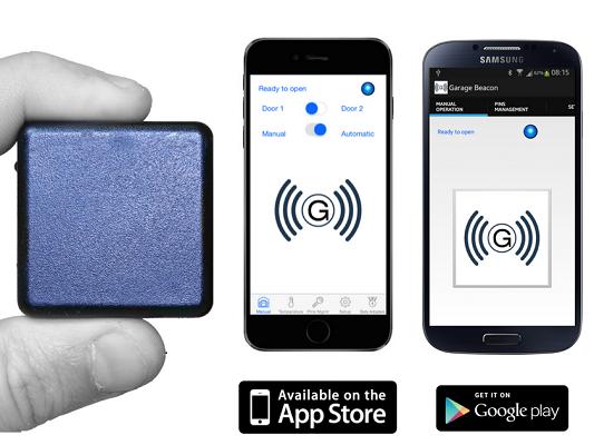 Garage beacon use your iphone to control door