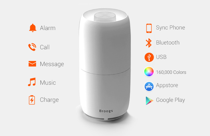 BROOGS Smart Lamp, Speaker, Notification Center, Charger - iPhoneNess