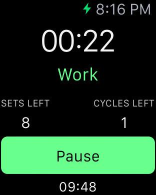 intervals apple watch
