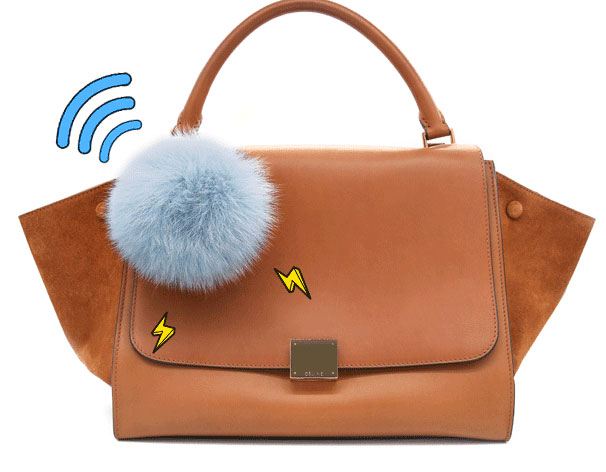 Power pompom this bag charm is a charger tracker mirror for Perfect blend pro smart scale