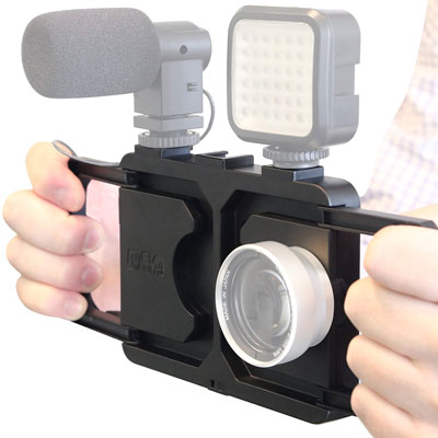 Melamount Video Stabilizer Pro Multimedia Rig for iPhone 7 -