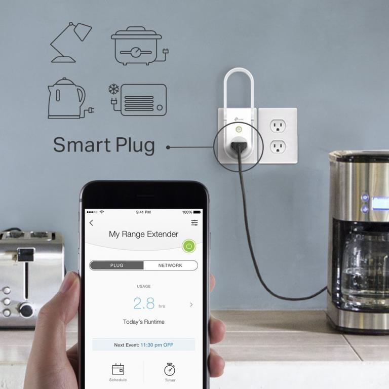 TP-Link Smart Plug & WiFi Range Extender [RE270K] -