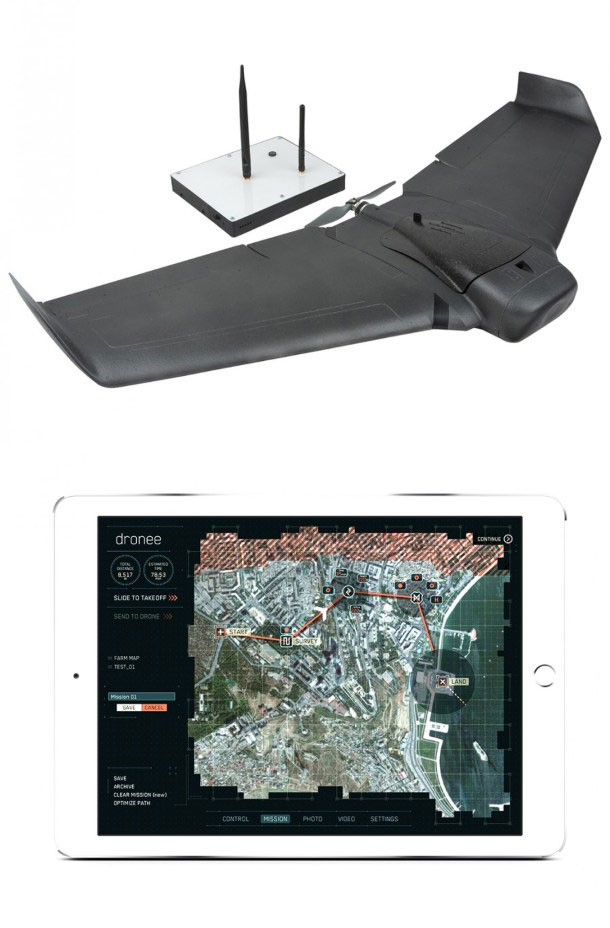 DroneePLANE Aerial Mapping Drone with iPad Flight Planner -