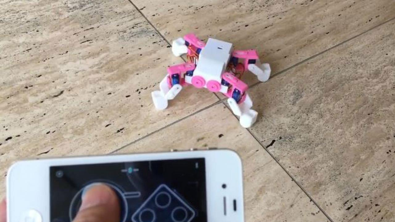 DIY: App Controlled 3D Printed Quadruped Robot -