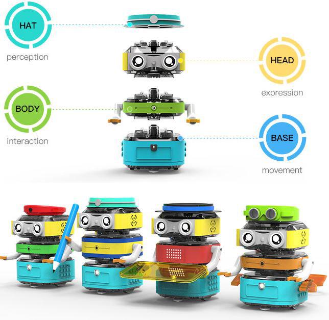 TacoBot: Modular, Stackable Coding Robot for Kids -