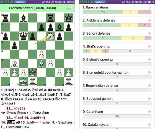 Chess Opening Blunders for iPhone & iPad -