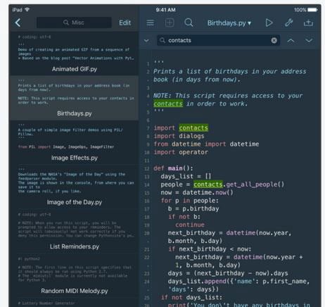 Pythonista 3: Python IDE for iPhone & iPad -