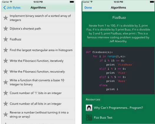 7 iPhone & iPad Apps for Technical & Coding Interviews -