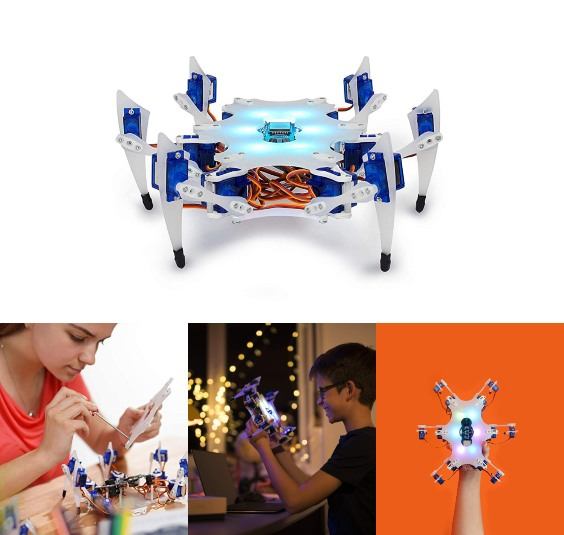 STEMI Hexapod Robot with App Coding & 3D Modeling Lessons -