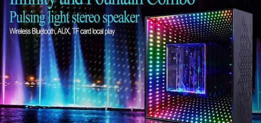 AddCore Infinty Mirror Bluetooth Speaker Black