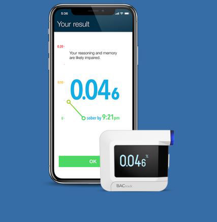 BACtrack C8 App Smart Breathalyzer Tells You When You Will