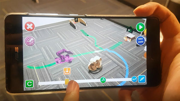 VRa: Augmented Reality Smartphone App for Robot Programming