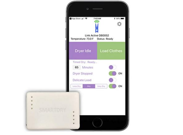 SmartDry: iOS/Android Compatible Laundry Sensor with Dry