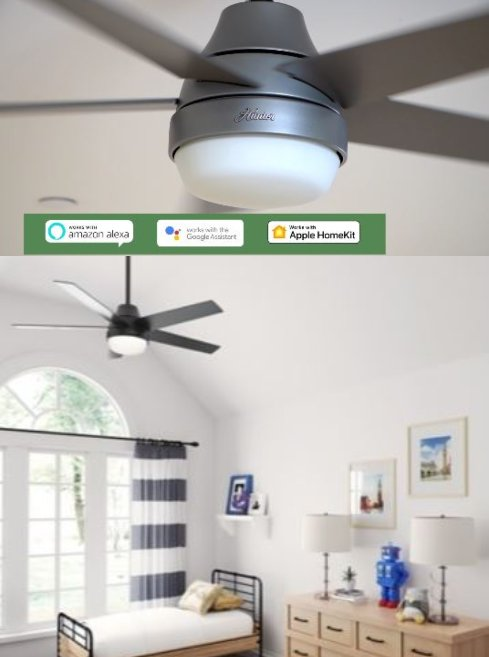 Aerodyne Smartphone Controlled Fan With Led Light 52 Inch